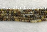 CAA1860 15.5 inches 4mm round banded agate gemstone beads