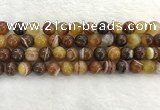 CAA1863 15.5 inches 10mm round banded agate gemstone beads