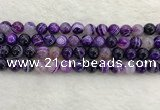CAA1873 15.5 inches 10mm round banded agate gemstone beads