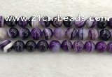 CAA1876 15.5 inches 16mm round banded agate gemstone beads