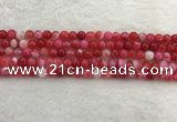CAA1891 15.5 inches 6mm round banded agate gemstone beads