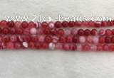 CAA1892 15.5 inches 8mm round banded agate gemstone beads