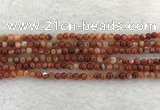 CAA1900 15.5 inches 4mm round banded agate gemstone beads
