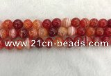 CAA1914 15.5 inches 12mm round banded agate gemstone beads