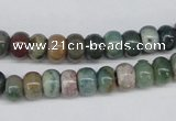 CAA192 15.5 inches 5*8mm rondelle indian agate beads wholesale
