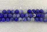 CAA1945 15.5 inches 14mm round banded agate gemstone beads