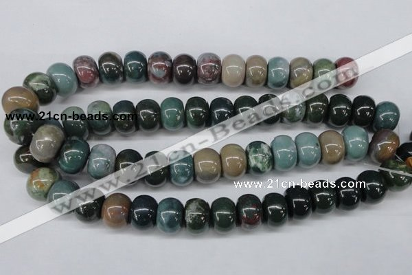 CAA196 15.5 inches 13*18mm rondelle indian agate beads wholesale