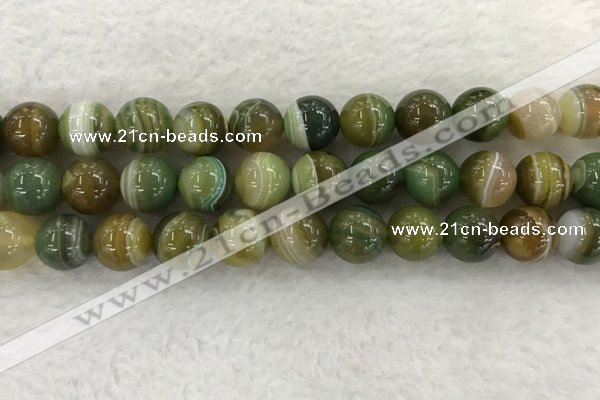 CAA1976 15.5 inches 16mm round banded agate gemstone beads