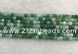 CAA2000 15.5 inches 4mm round banded agate gemstone beads