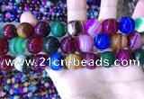 CAA2036 15.5 inches 16mm round banded agate gemstone beads