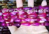 CAA2053 15.5 inches 8*20mm teardrop agate beads wholesale