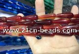CAA2074 15.5 inches 10*30mm teardrop agate beads wholesale