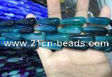 CAA2079 15.5 inches 10*30mm teardrop agate beads wholesale
