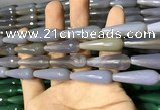 CAA2091 15.5 inches 10*30mm faceted teardrop agate beads