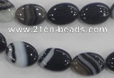 CAA210 15.5 inches 10*14mm oval madagascar agate beads