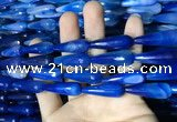 CAA2100 15.5 inches 10*30mm faceted teardrop agate beads