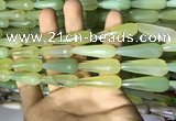 CAA2103 15.5 inches 10*30mm faceted teardrop agate beads