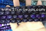 CAA2115 15.5 inches 10*14mm drum agate beads wholesale
