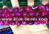 CAA2116 15.5 inches 10*14mm drum agate beads wholesale