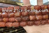 CAA2119 15.5 inches 10*14mm drum agate beads wholesale