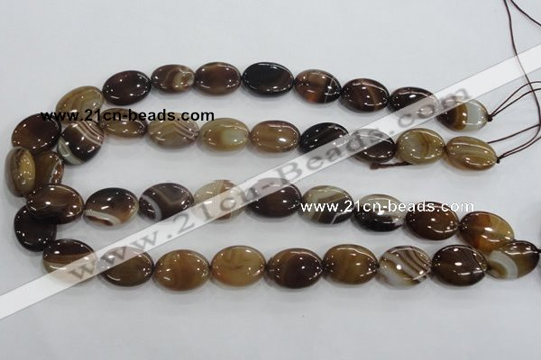 CAA212 15.5 inches 15*20mm oval madagascar agate beads