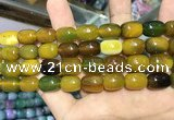 CAA2123 15.5 inches 10*14mm drum agate beads wholesale