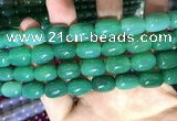 CAA2124 15.5 inches 10*14mm drum agate beads wholesale