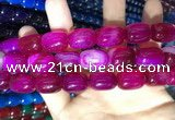CAA2131 15.5 inches 13*18mm drum agate beads wholesale