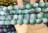CAA2142 15.5 inches 12*16mm faceted drum agate beads wholesale