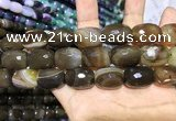 CAA2151 15.5 inches 15*20mm faceted drum agate beads wholesale