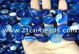 CAA2174 15.5 inches 15*20mm oval banded agate beads wholesale