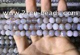 CAA2192 15.5 inches 8mm faceted round banded agate beads