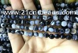CAA2198 15.5 inches 6mm faceted round banded agate beads