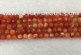 CAA2227 15.5 inches 8mm faceted round banded agate beads