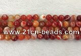 CAA2228 15.5 inches 10mm faceted round banded agate beads
