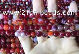 CAA2234 15.5 inches 8mm faceted round banded agate beads
