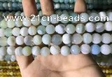 CAA2242 15.5 inches 10mm faceted round banded agate beads