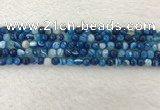 CAA2256 15.5 inches 4mm faceted round banded agate beads