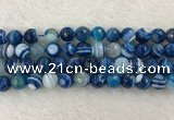 CAA2260 15.5 inches 12mm faceted round banded agate beads