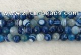 CAA2261 15.5 inches 14mm faceted round banded agate beads