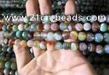 CAA2265 15.5 inches 8mm faceted round banded agate beads