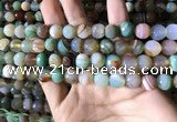 CAA2266 15.5 inches 10mm faceted round banded agate beads