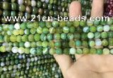 CAA2270 15.5 inches 4mm faceted round banded agate beads