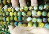 CAA2273 15.5 inches 10mm faceted round banded agate beads