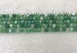 CAA2277 15.5 inches 4mm faceted round banded agate beads