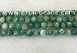 CAA2280 15.5 inches 10mm faceted round banded agate beads