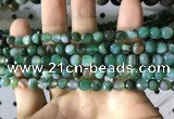 CAA2286 15.5 inches 6mm faceted round banded agate beads