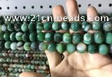 CAA2287 15.5 inches 8mm faceted round banded agate beads