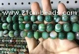 CAA2288 15.5 inches 10mm faceted round banded agate beads