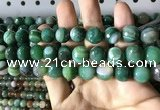 CAA2289 15.5 inches 12mm faceted round banded agate beads